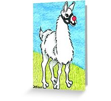 2013 Holiday ATC 6 - Llama Rudolph Greeting Card
