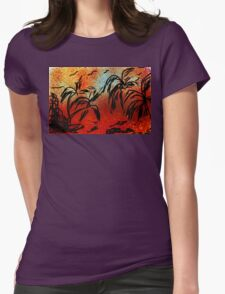 ©TAIMITIDESIGNS. -*COCO TREES* Womens Fitted T-Shirt