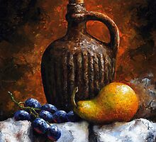 Pear and grapes - sl21 by Imre Toth (Emerico)