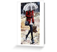 Rainy day - Woman of New York /09 Greeting Card