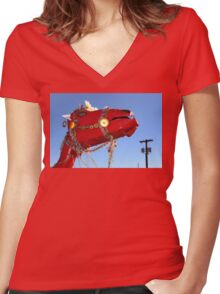 Decorate Your Camel Women's Fitted V-Neck T-Shirt