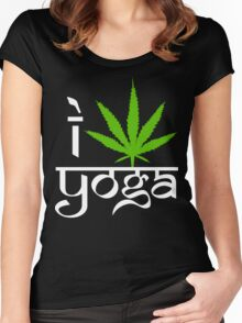 I Cannabis Yoga Women's Fitted Scoop T-Shirt