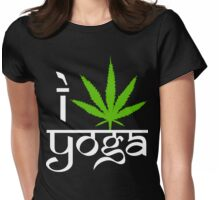 I Cannabis Yoga Womens Fitted T-Shirt