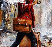 Rainy day - Woman of New York /17 by Imre Toth (Emerico)