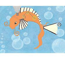 Steampunk Koi Fish Photographic Print