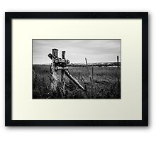 Country fence Framed Print