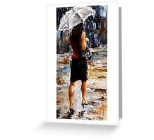 Rainy day - Woman of New York /04 Greeting Card