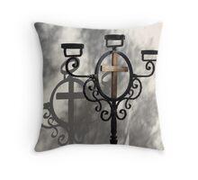 Shadowed Cross Throw Pillow