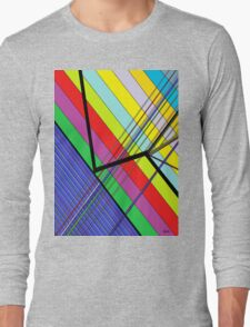 Diagonal Color - Abstract Long Sleeve T-Shirt