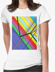 Diagonal Color - Abstract Womens Fitted T-Shirt