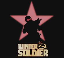 Winter Solider Silhouette with Comic Logo by mmatsi