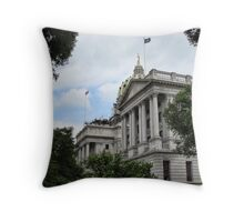 Capital building of Harrisburg Throw Pillow