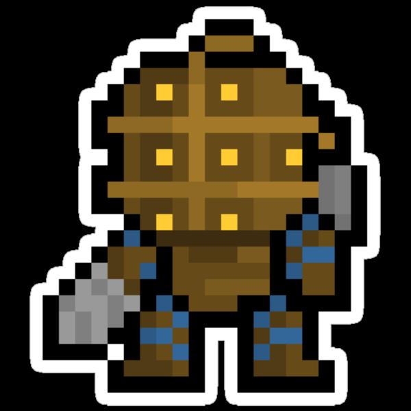 Pixel Big Daddy Sticker by PixelBlock