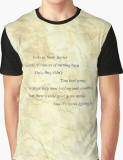 samwise the brave speaks Graphic T-Shirt