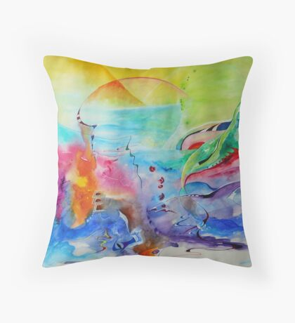 abstract mindscape no.4 Throw Pillow