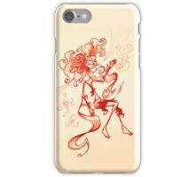 She dreamed of paradise iPhone Case/Skin
