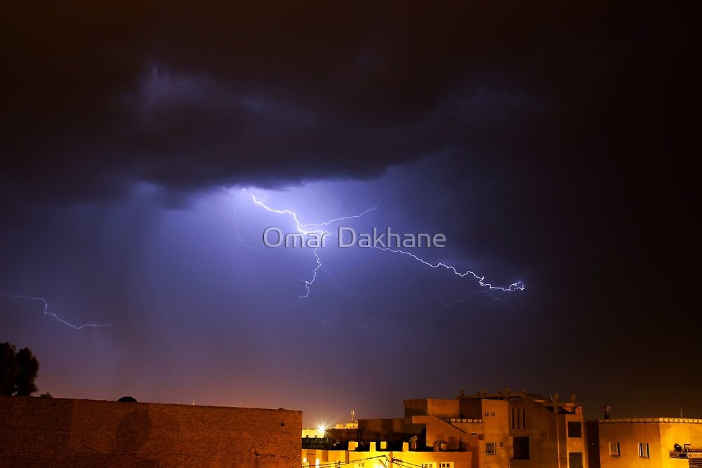Lightning In M'sila, Algeria. by Omar Dakhane
