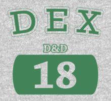 Varsity D&D - DEX 18 T-Shirt