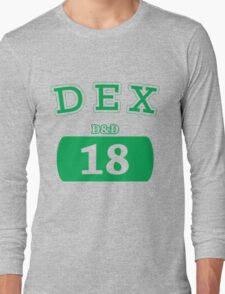 Varsity D&D - DEX 18 Long Sleeve T-Shirt