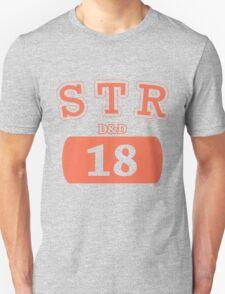 Varsity D&D - STR 18 Unisex T-Shirt