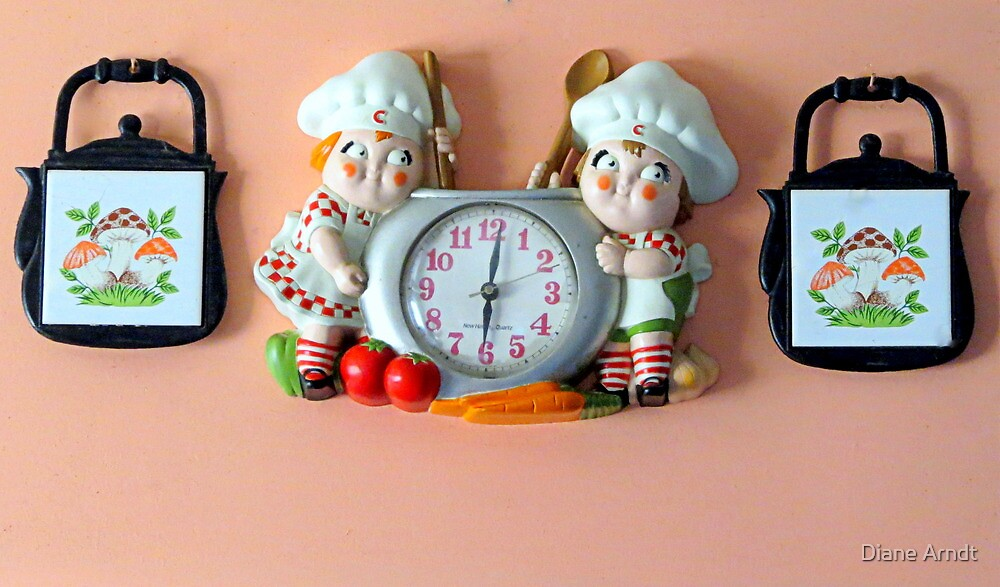 Lunch Time...Vintage Clock by Diane Arndt