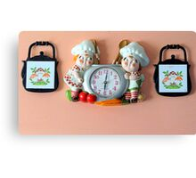 Lunch Time...Vintage Clock Canvas Print
