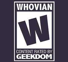 Rated W for Whovian (White) Unisex T-Shirt
