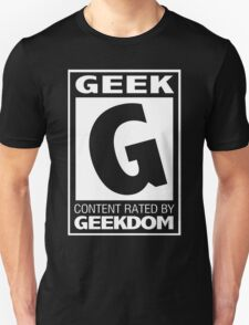 Rated G for Geek (White) T-Shirt