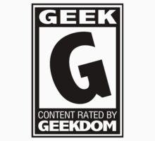 Rated G for Geek (Black) Kids Tee