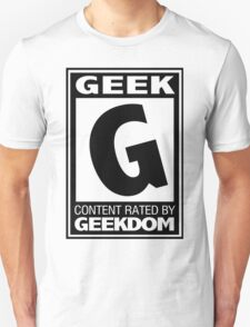 Rated G for Geek (Black) T-Shirt
