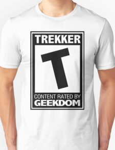 T for Trekker (Black) T-Shirt