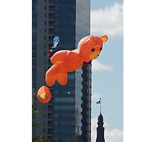 Flying Bear Watches Over City of Milwaukee Photographic Print