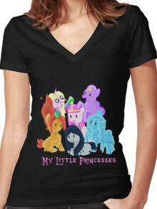 Pony Princesses Women's Fitted V-Neck T-Shirt