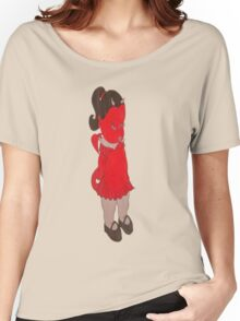 MS. MEANIE in RED DRESS Women's Relaxed Fit T-Shirt