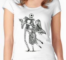 Jack and Sally, The Love Story Women's Fitted Scoop T-Shirt