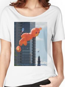 Flying Bear Watches Over City of Milwaukee Women's Relaxed Fit T-Shirt