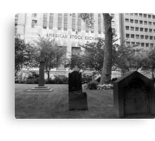 Death and the American Stock Exchange. Canvas Print