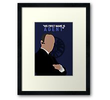 "His First Name is ""AGENT."" Framed Print"