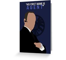 "His First Name is ""AGENT."" Greeting Card"