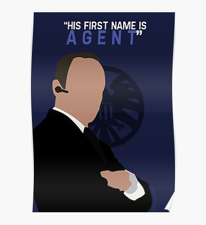 """His First Name is """"AGENT."""" Poster"""