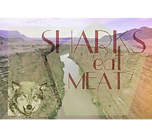 Sharks Eat Meat by Tucker Adams Photographic Print