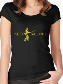 Keep Killing Women's Fitted Scoop T-Shirt