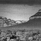 Drakensburg Escarpment by Michael  Moss