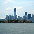 Looking Across the Hudson to the Freedom Tower, NYC by Jane Neill-Hancock