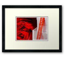 Give Love, Wear Love Framed Print