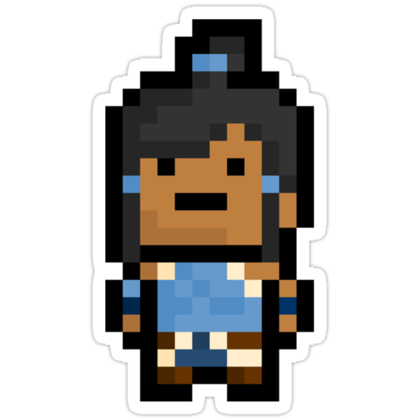 Pixel Korra The Avatar Sticker by PixelBlock