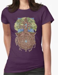 Gaia Life Tree Womens Fitted T-Shirt