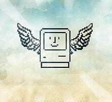 pixel mac with wings by vinpez