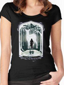 Snape Memories Black Women's Fitted Scoop T-Shirt