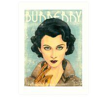 Vivien Leigh wearing Burberry Fall 2015 RTW Art Print